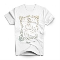 T-SHIRT - COLORE MON T-SHIRT - PRINCESSE - ENFANT