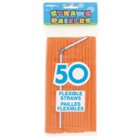 PAILLES FLEXIBLES - ORANGE NEON
