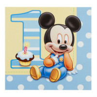 MICKEY MOUSE BÉBÉ - SERVIETTE DE TABLE