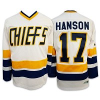 SLAP SHOT - CHIEFS BLANC -  JERSEY HANSON 17