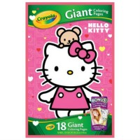 CRAYOLA - COLORIAGE - CAHIER GÉANT HELLO KITTY