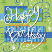 BIRTHDAY BRIGHT - SERVIETTES DE TABLE